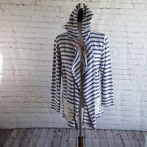 🌶matilda jane lace cardigan jacket Large stripe